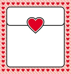 Frame border red heart design for valentine vector