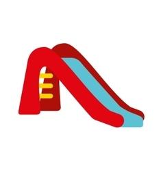 Park slide fun icon vector