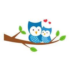 isolated owl sitting on a branch vector image