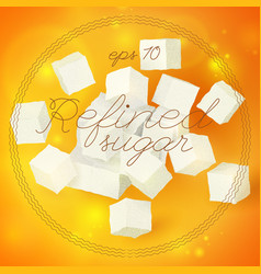 Light geometric refined sugar template vector