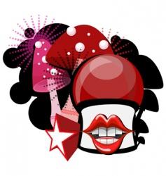 mushroom cartoon vector image