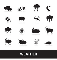 Weather symbols eps10 vector