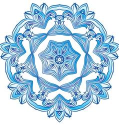 Blue snowflake vector
