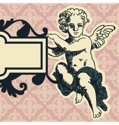 Angel in style of a baroque vector image