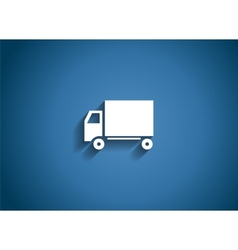 Delivery glossy icon vector