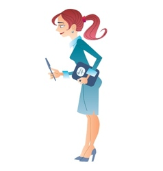 Slim business woman vector