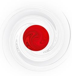 Japanese swirl flag vector