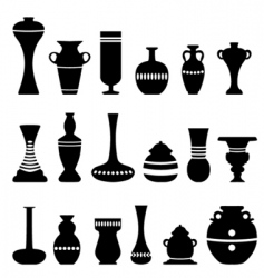 decorative vase vector image