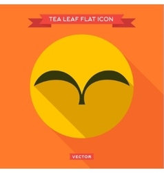 Green leaf tea into flat style icon vector