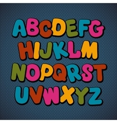 Hand drawn cartoon doodle font vector
