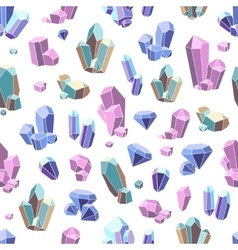 Crystal minerals seamless pattern vector