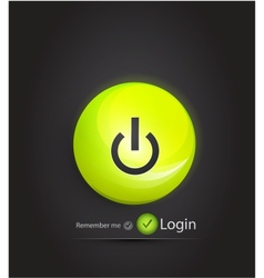 power button login page vector image