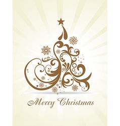 Christmas beautiful artistic background vector image vector image