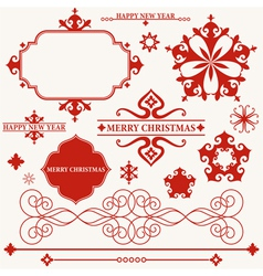 Christmas Vintage vector image vector image