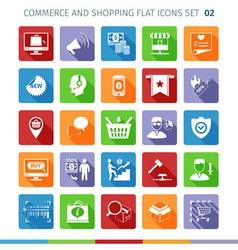 Commerce flat set 02 vector