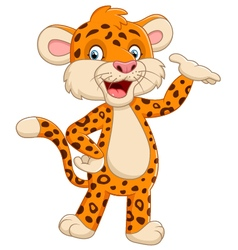 Cute cheetah vector