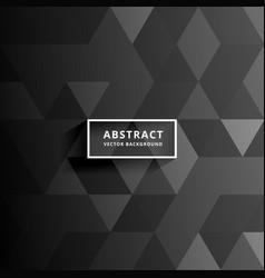 Dark traingles background design vector