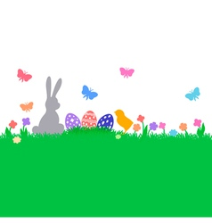 easter color background vector image