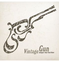 Gun on white vector image vector image