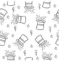 hat circus pattern style collection vector image vector image
