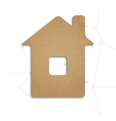 House cut out of cardboard vector image vector image