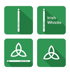 Icons with Tin Whistles vector image vector image