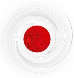 Japanese swirl flag vector
