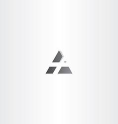 letter a black triangle icon design vector image