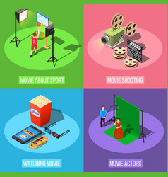 movie production design concept vector image vector image