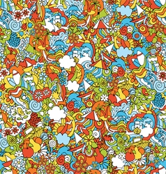 pattern summer holiday vector image vector image