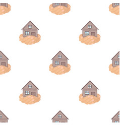 Property donation icon in cartoon style isolated vector