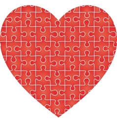 Puzzle heart pattern vector