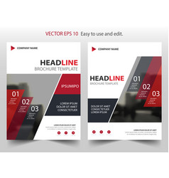 red abstract infographic annual report brochure vector image vector image