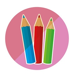 school supplies icon vector image