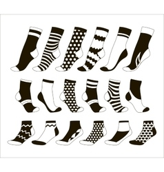 Set icon of colored socks vector