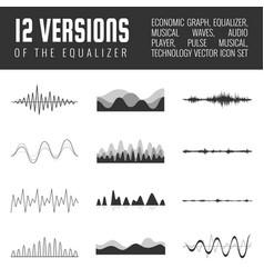 Set of audio scales vector