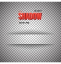 Shadow for Banner Realistic Shadow vector image