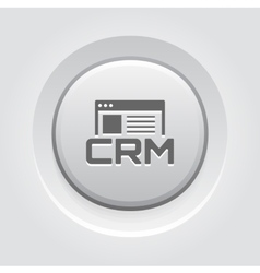 Shop CRM System Icon Grey Button Design vector image