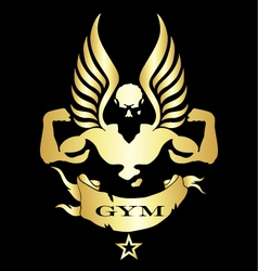 Symbol for gym and fitness vector image vector image