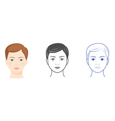 three women faces vector image vector image
