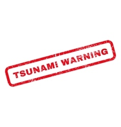 Tsunami warning rubber stamp vector