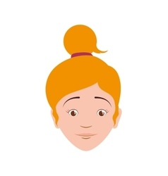 Girl female avatar person people icon vector