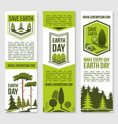 save earth planet nature banners template vector image