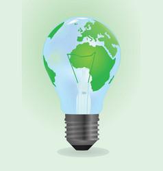 bulb world vector image
