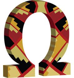 3d omega symbol vector