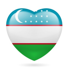Heart icon of uzbekistan vector