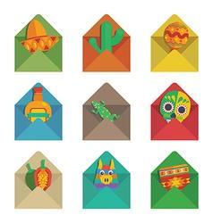 mexican envelopes vector image