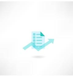 Document icons vector