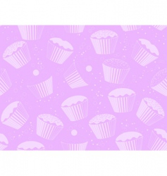 Cup cake background vector