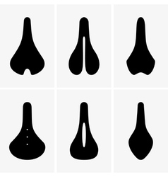 Bike saddle vector image
